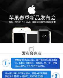一张图看懂2016苹果春季新品发布会截图